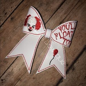 Pennywise Horror Cheer Bow